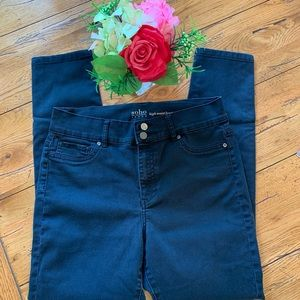 NY and Company jeans black high waist legging 14